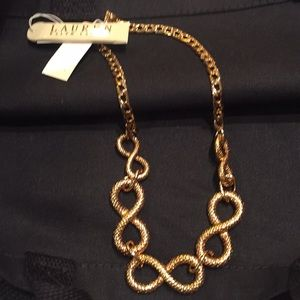 Ralph Lauren gold tone necklace